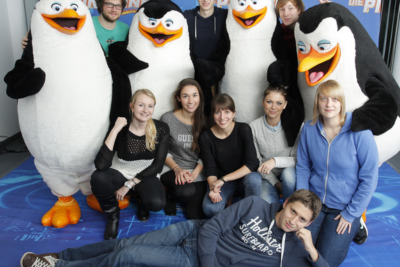 Normal pinguine praktikanten